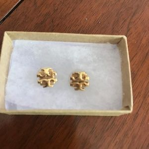 Tory Burch Small Logo Stud Earrings Earrings